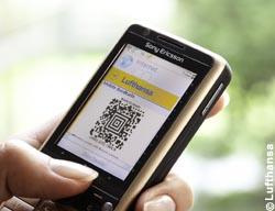 Barcode auf dem Mobiltelefon