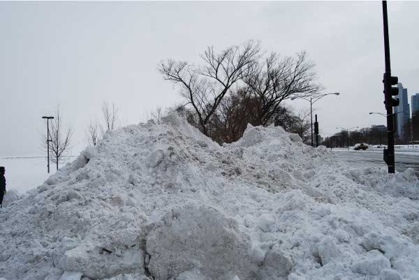 Nach den Aufräumarbeiten in Chicago nach dem Wintersturm