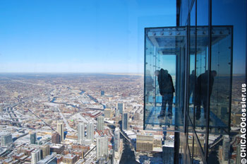 Willis Tower Sky Deck Glas-Balkone