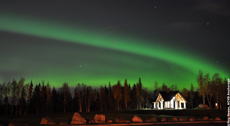 Alaska Polarlichter in der Umgebung von Anchorage
