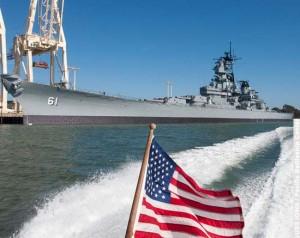 USS IOWA at Port of LA Berth 87