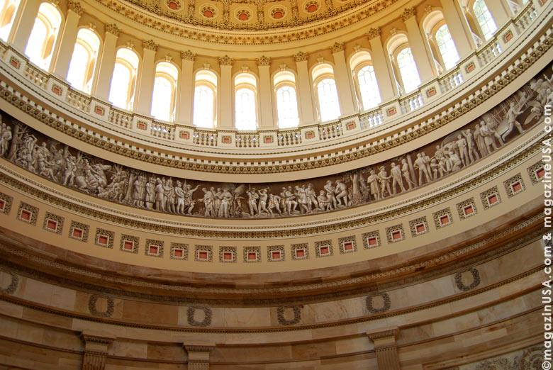 Restaurationsarbeiten am U.S. Kapitol in Washington D.C. ab November 2013