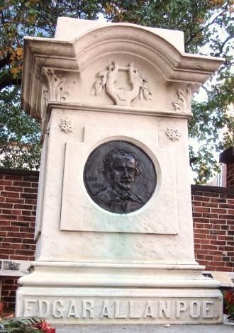 Edgar Allan Poe's Grab auf dem Westminster Burial Ground in Baltimore