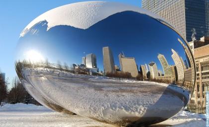 Cloud Gate (im Volksmund 'The Bean') -- Millennium Park Chicago
