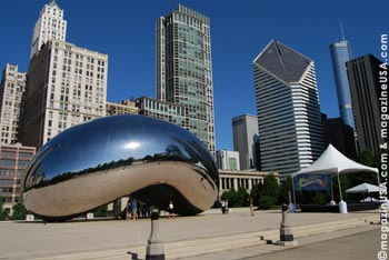 Millennium Park in Chicago, hier: Cloud Gate (The Bean)