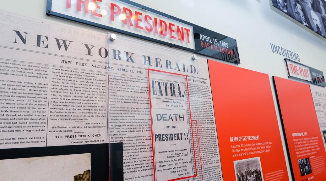 Newseum Lincoln Exhibit (Foto copyright Derek Reynolds)