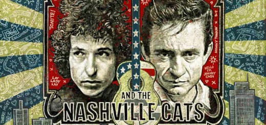 """Das Ausstellungsplakat """"Dylan, Cash And The Nashville Cats: A New Music City"""" von Jon Langford. Foto: Country Music Hall of Fame & Museum"""