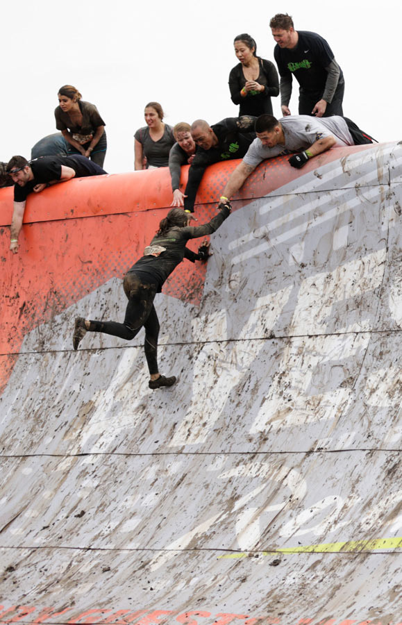 Tough Mudder in Rockford, Quarter-Pipe