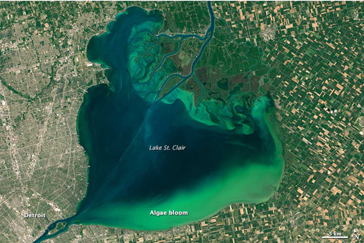 Lake Erie / St. Clair 2016 (Bild NASA.gov)