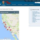 Kalifornien Waldbrände: Website: www.fire.ca.gov/general/firemaps