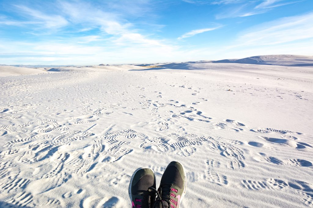 White Sands National Monument im U.S. Bundesstaat New Mexico