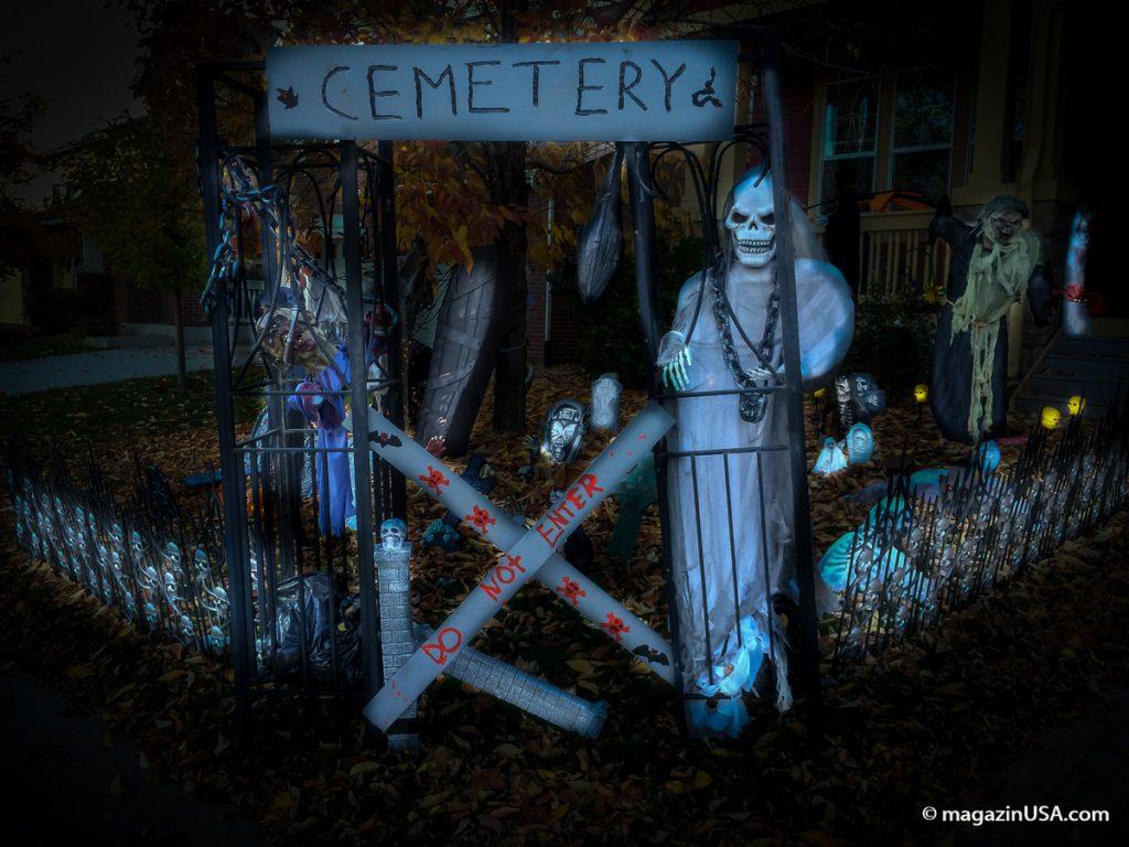 Gartendekoration zu Halloween