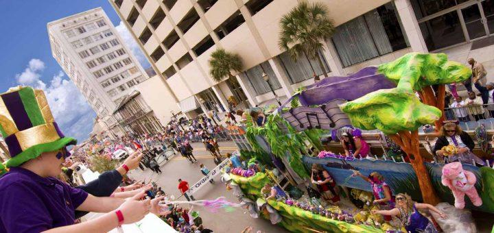 Mardi Gras Parade in Mobile, Alabama (Foto: Alabama Tourism, Berlin, alabama-usa.de)