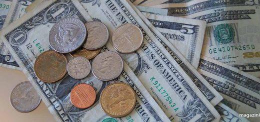 Münzen und Geldscheine in USA