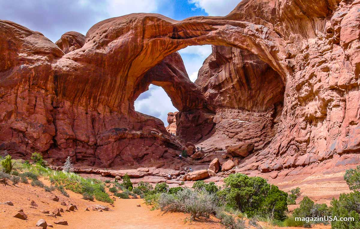 Double Arch im Arches Nationalpark, Utah