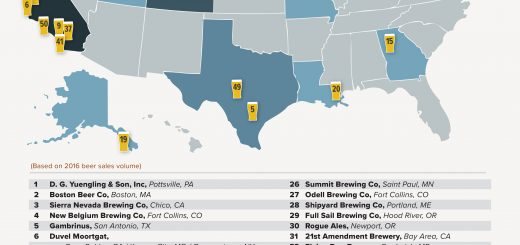 Top 50 Craft Bierbrauereien 2016 in USA