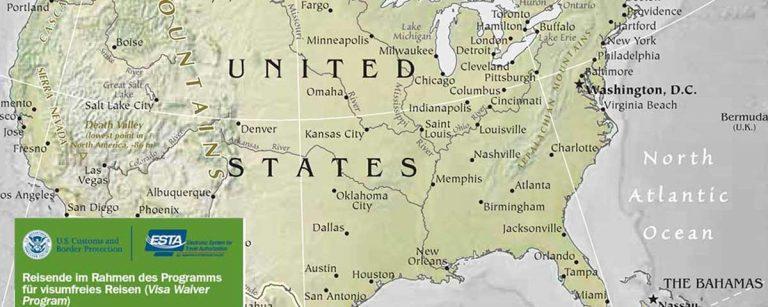 Einreise USA — so geht's: ESTA Antrag auf offizieller U.S. Website stellen