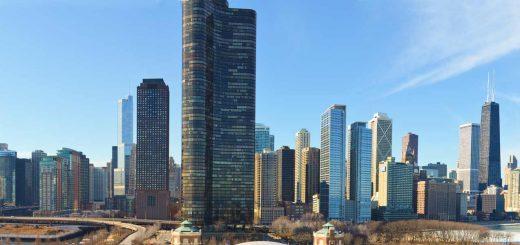 Panorama Chicago Skyline