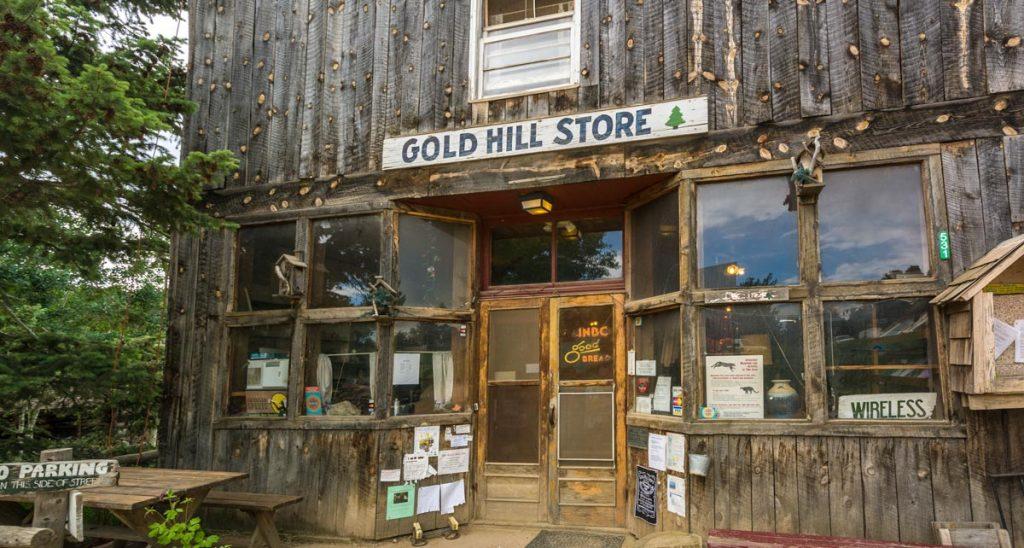 Semi Ghosttown Gold Hill bei Boulder, Colorado