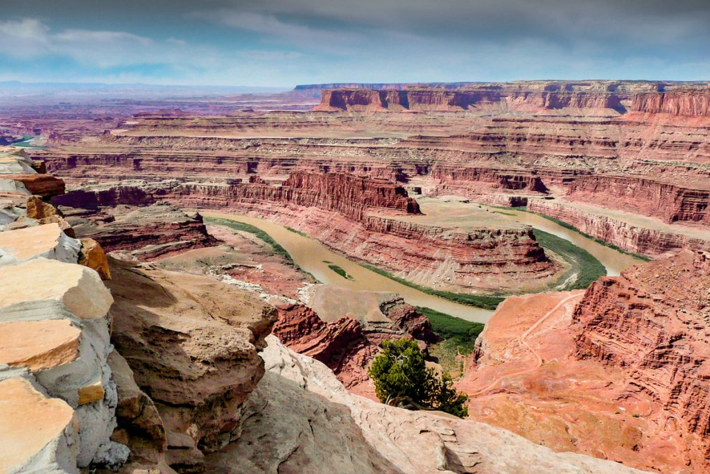 Colorado River gesehen vom Dead Horse State Park, Canyonlands, Utah