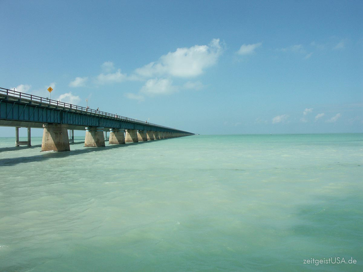 7 Mile Bridge Richtung Key West
