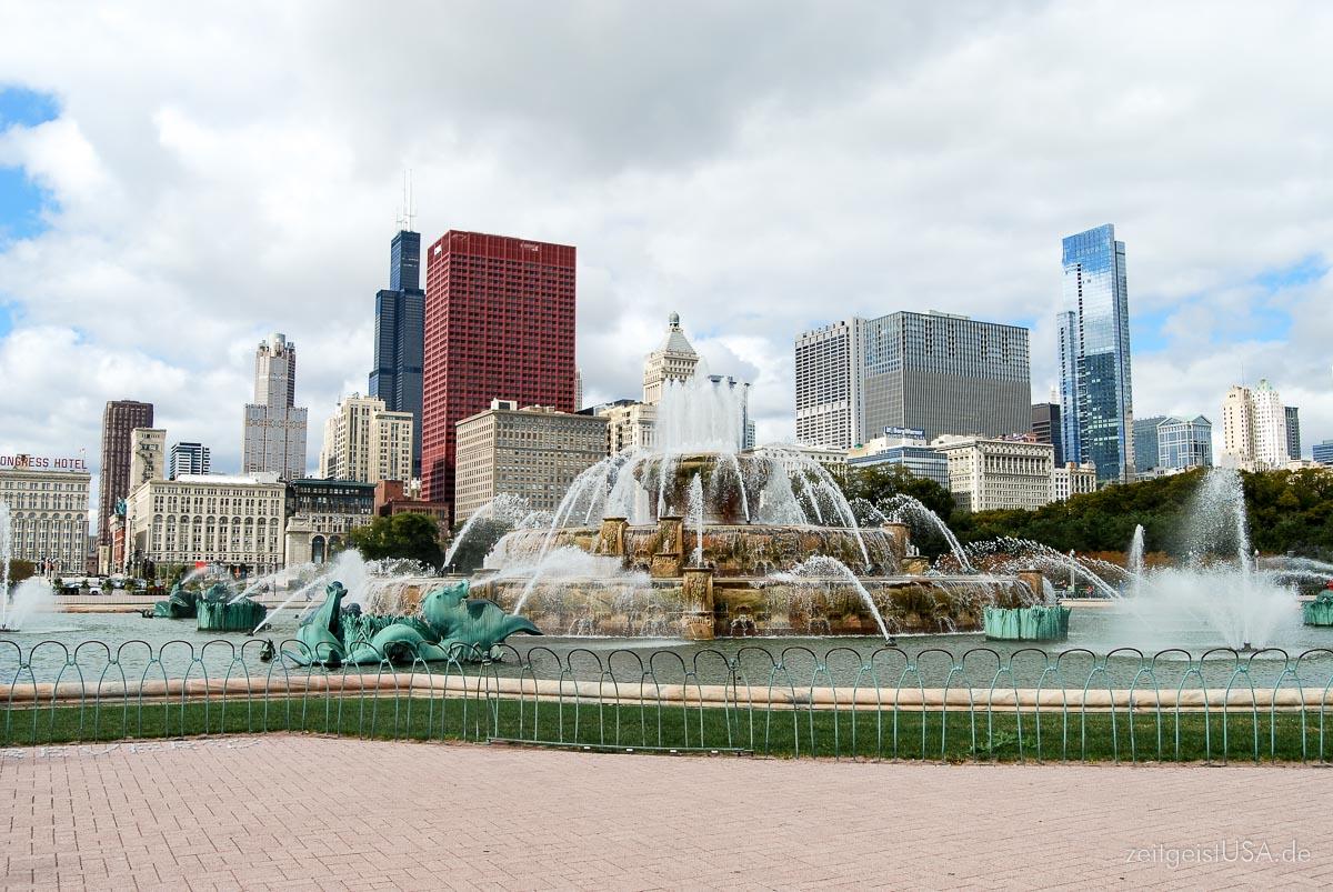 Buckingham Fountain im Grant Park, gleich neben dem Millennium Park