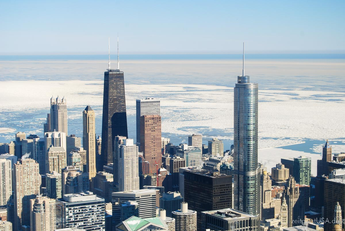 Aussicht vom Willis Tower Skydeck