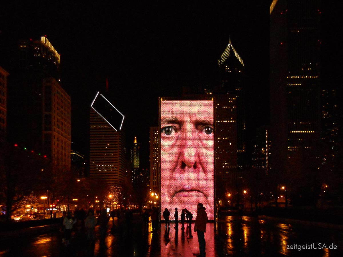 Crown Fountain im Millennium Park