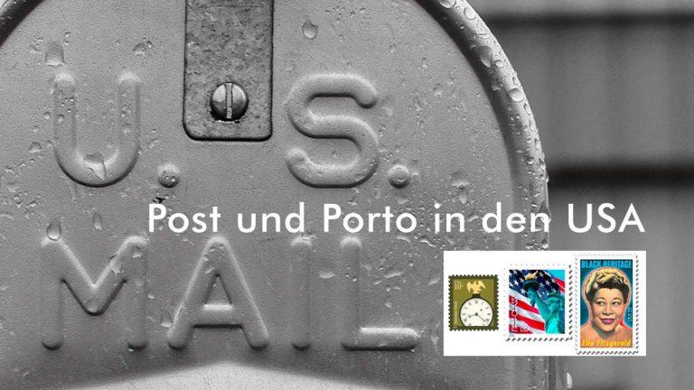 Post und Porto in USA — Tarife der U.S. Post
