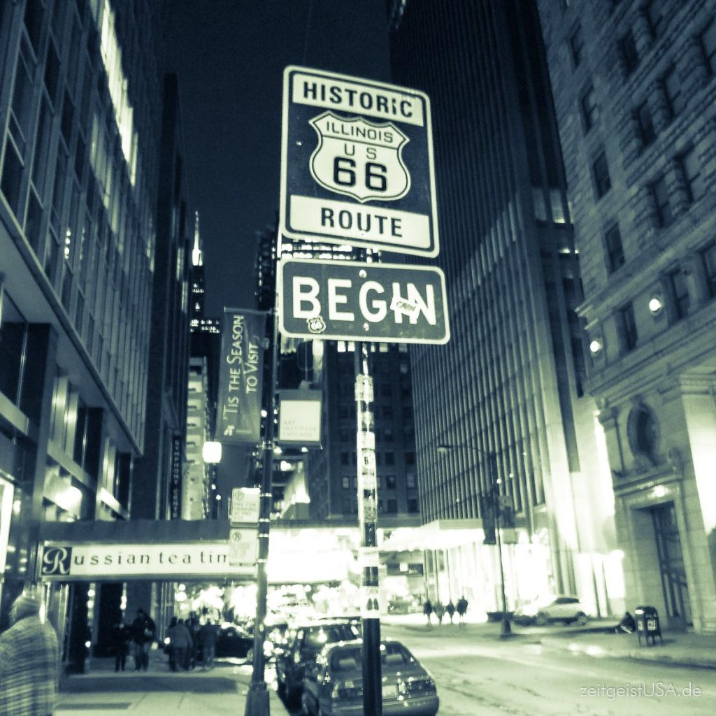 Start der Route 66 in Chicago