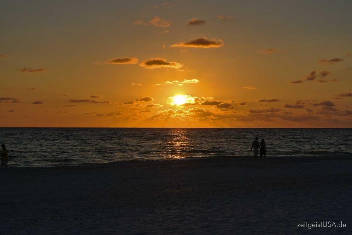 Somnenuntregang auf Anna Maria Island, Florida