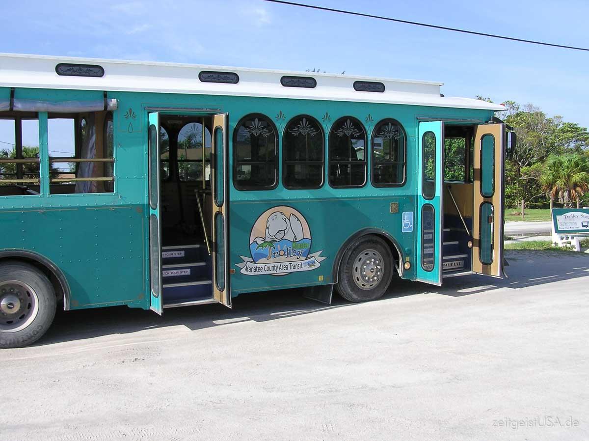 Insel Trolley auf Anna Maria Island, Florida