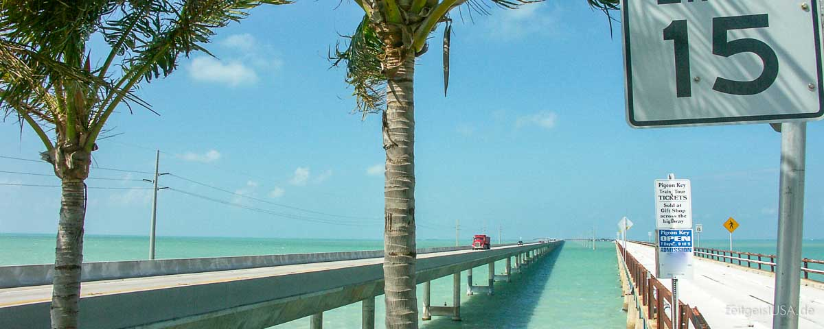Die Florida Keys — auf den Highway 1 von Miami nach Key West – USA ...