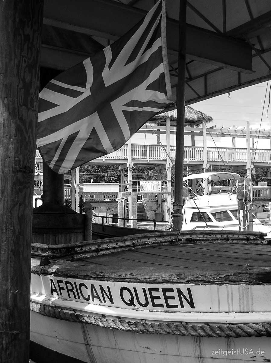 African Queen Boot (aus dem 1951 Film mit Humphrey Bogart) in Key Largo