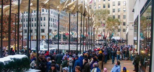 NYC Weihnachtsbaumerleuchtung am Rockefeller Center