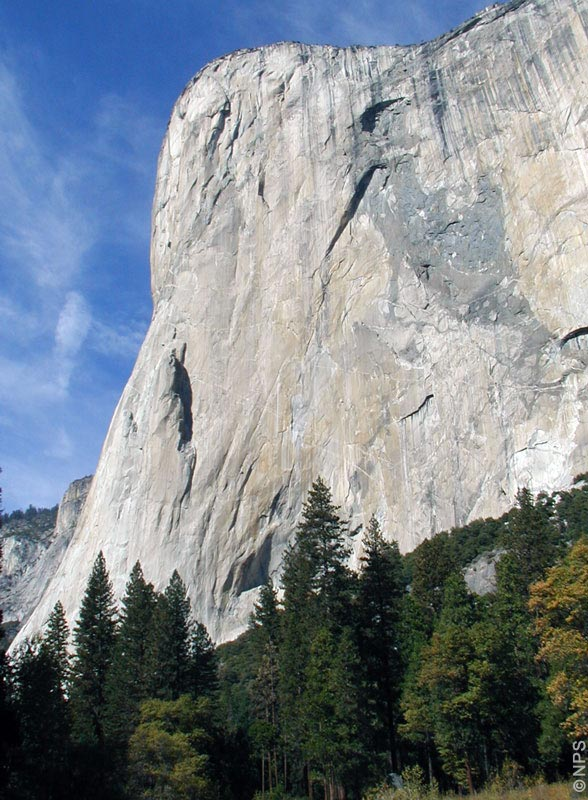 North American Wall des El Capitan gesehen vom Valley Floor Loop Trail