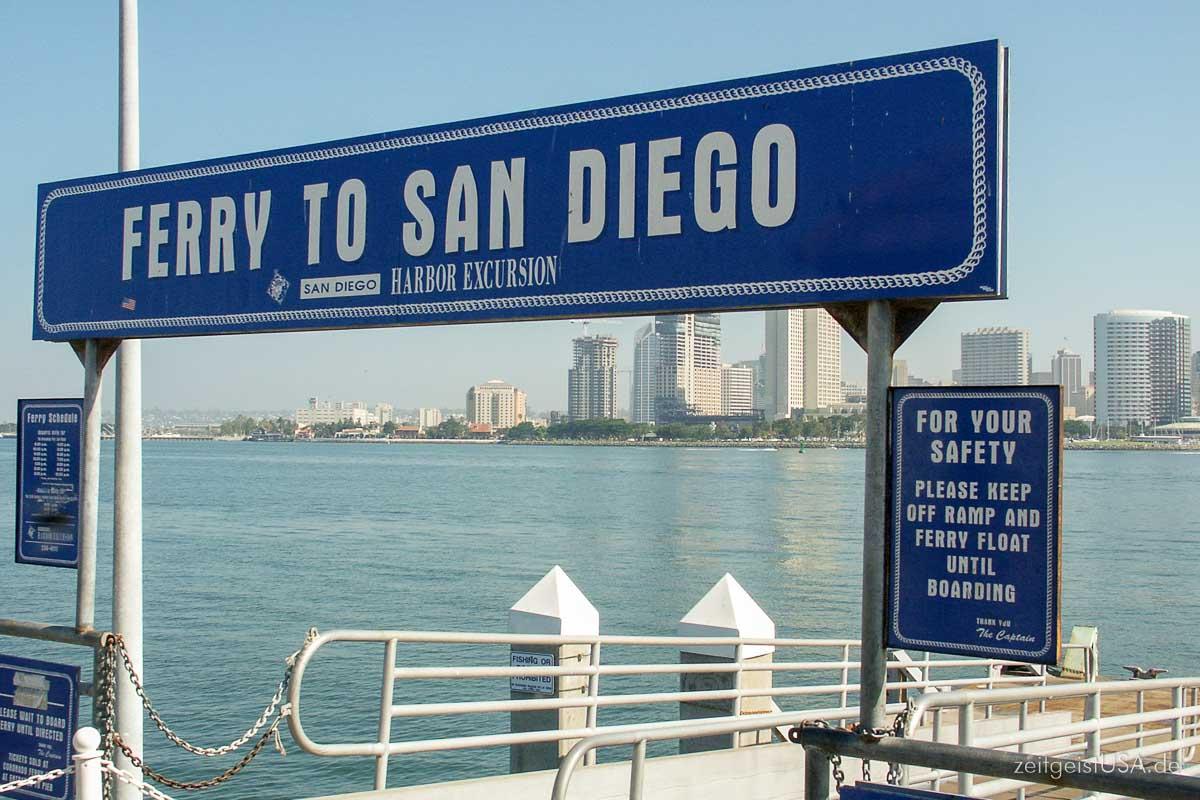 Fähre zwischen Coronado und San Diego
