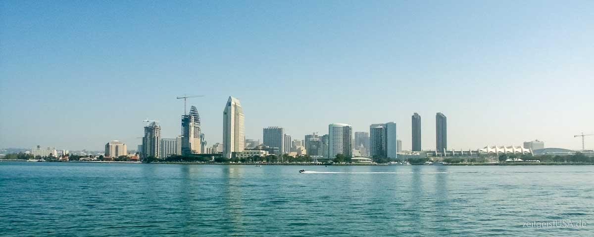 San Diego Sicht von Coronado Island aus