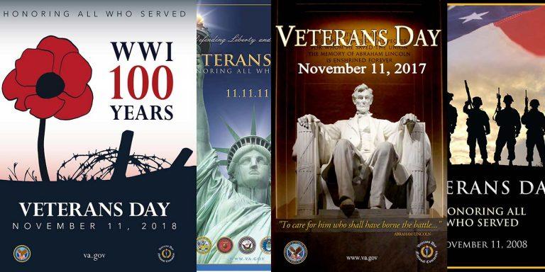 Veterans Day am 11. November, ein amerikanischer Feiertag