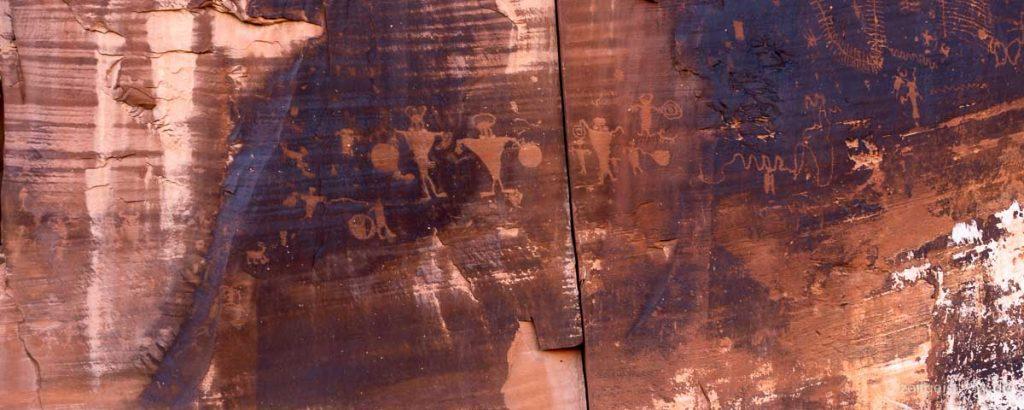 Petroglyphen -- Highway 279 -- nördlich von Moab, Utah