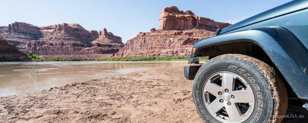 Colorado River Flussbett -- Goldbar Landing -- Highway 279 -- nördlich von Moab, Utah