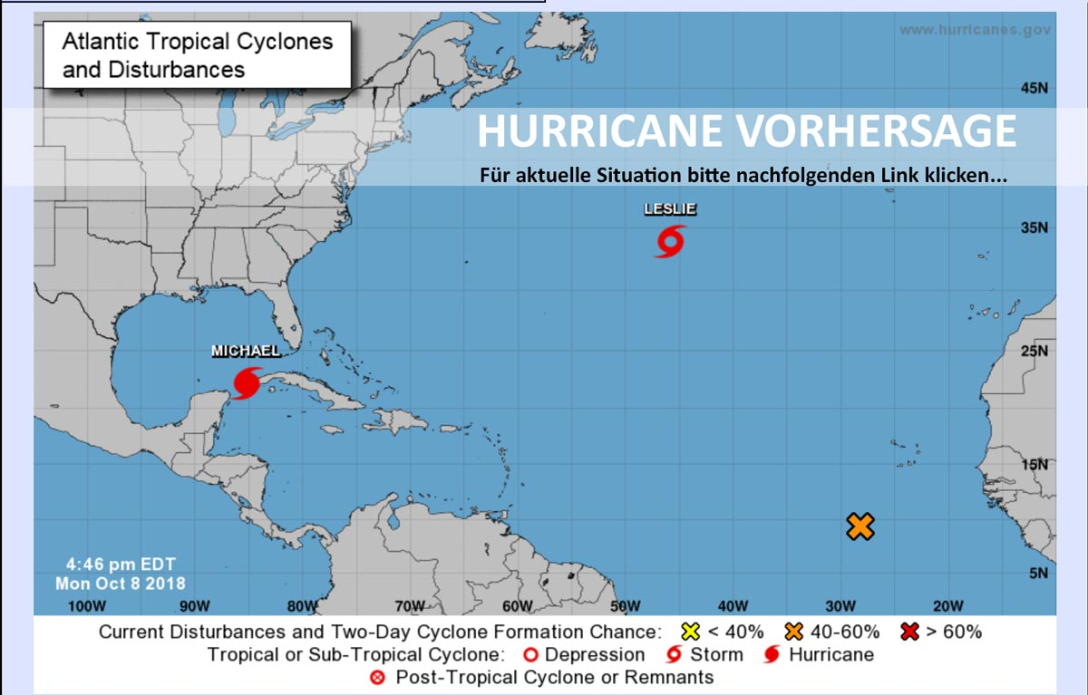 Hurricane Vorhersage durch das National Hurricane Center (photo Website nhc.noaa.gov)