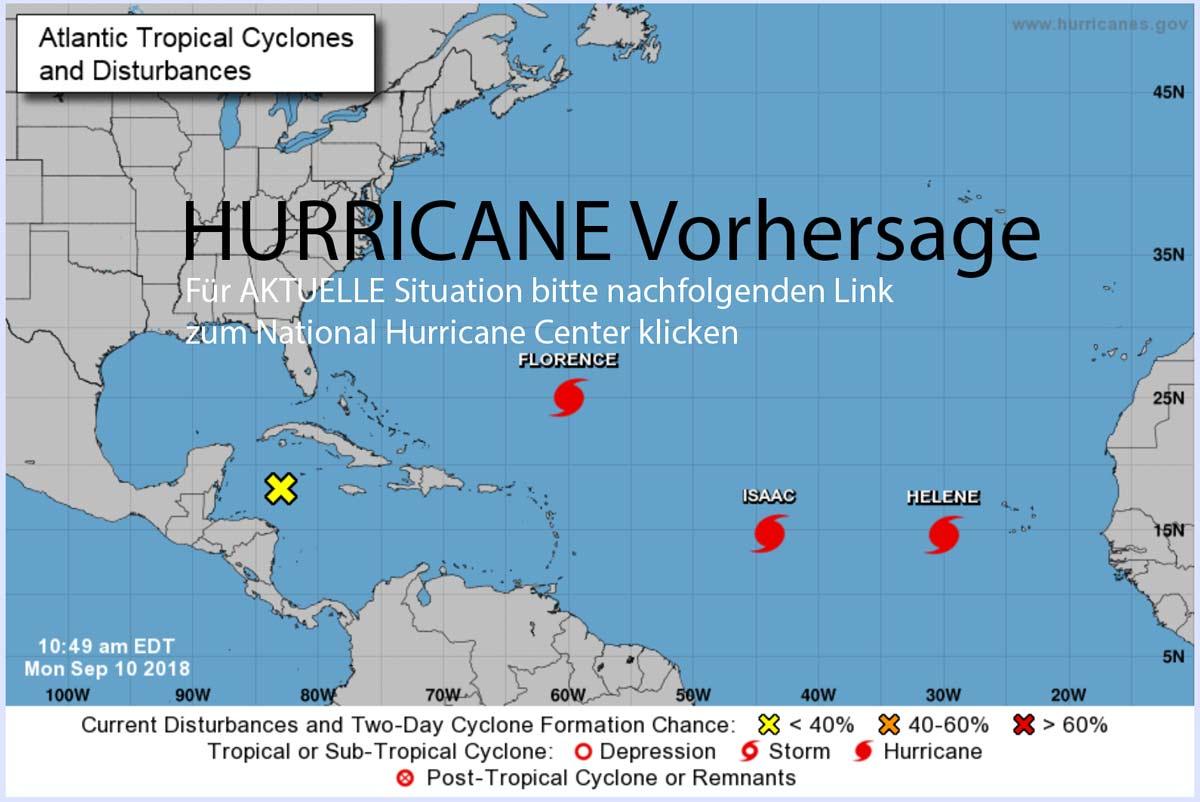 Hurricane Vorhersage durch das National Hurricane Center (photo Website nhc.noaa.gov)