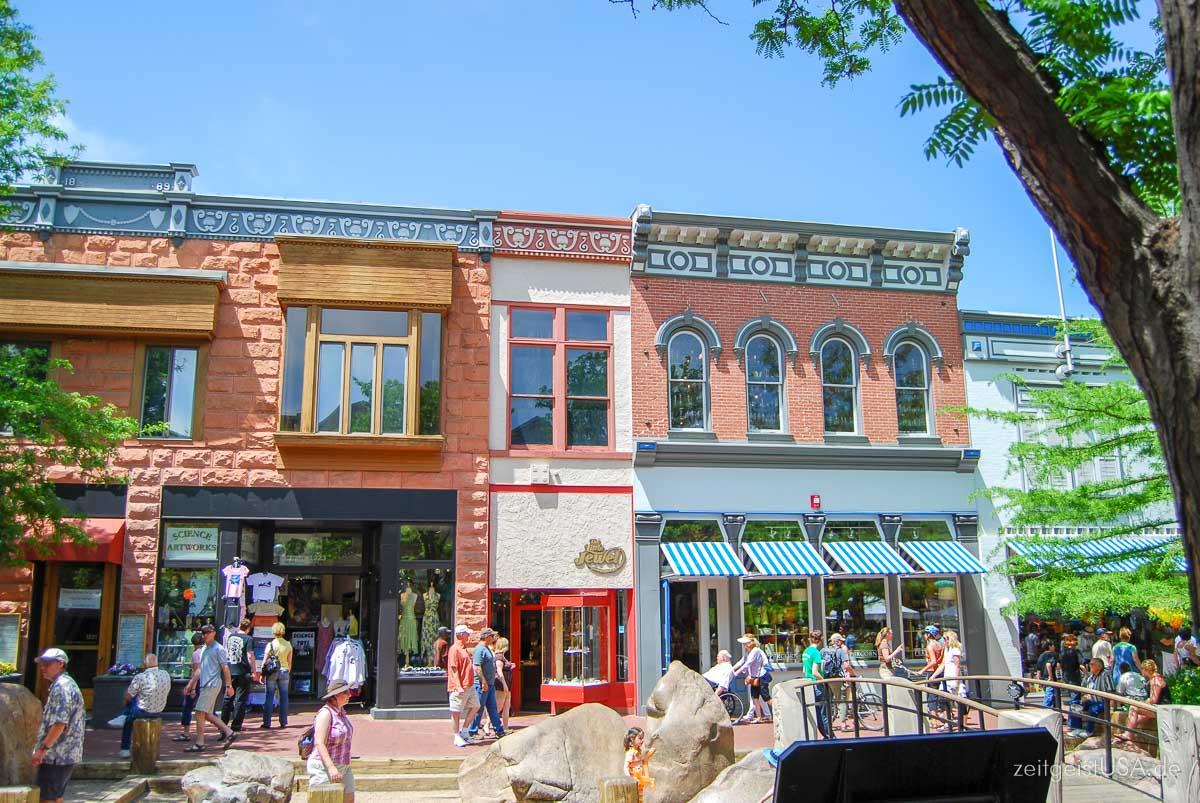 Boulder Downtown (Pearl Street Mall) ist eine Fußgängerzone und lädt zum Entspannen ein.