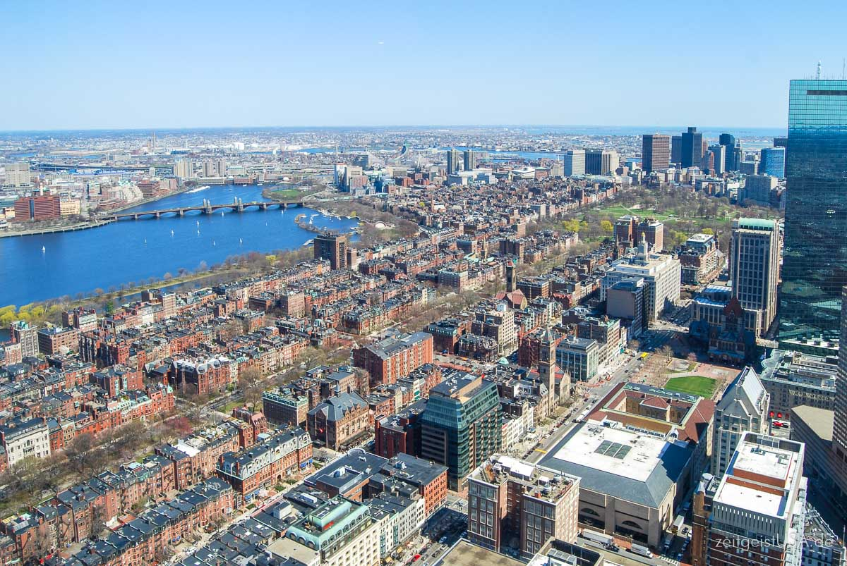 Blicke vom Prudential Center Observatory / Skywalk Boston