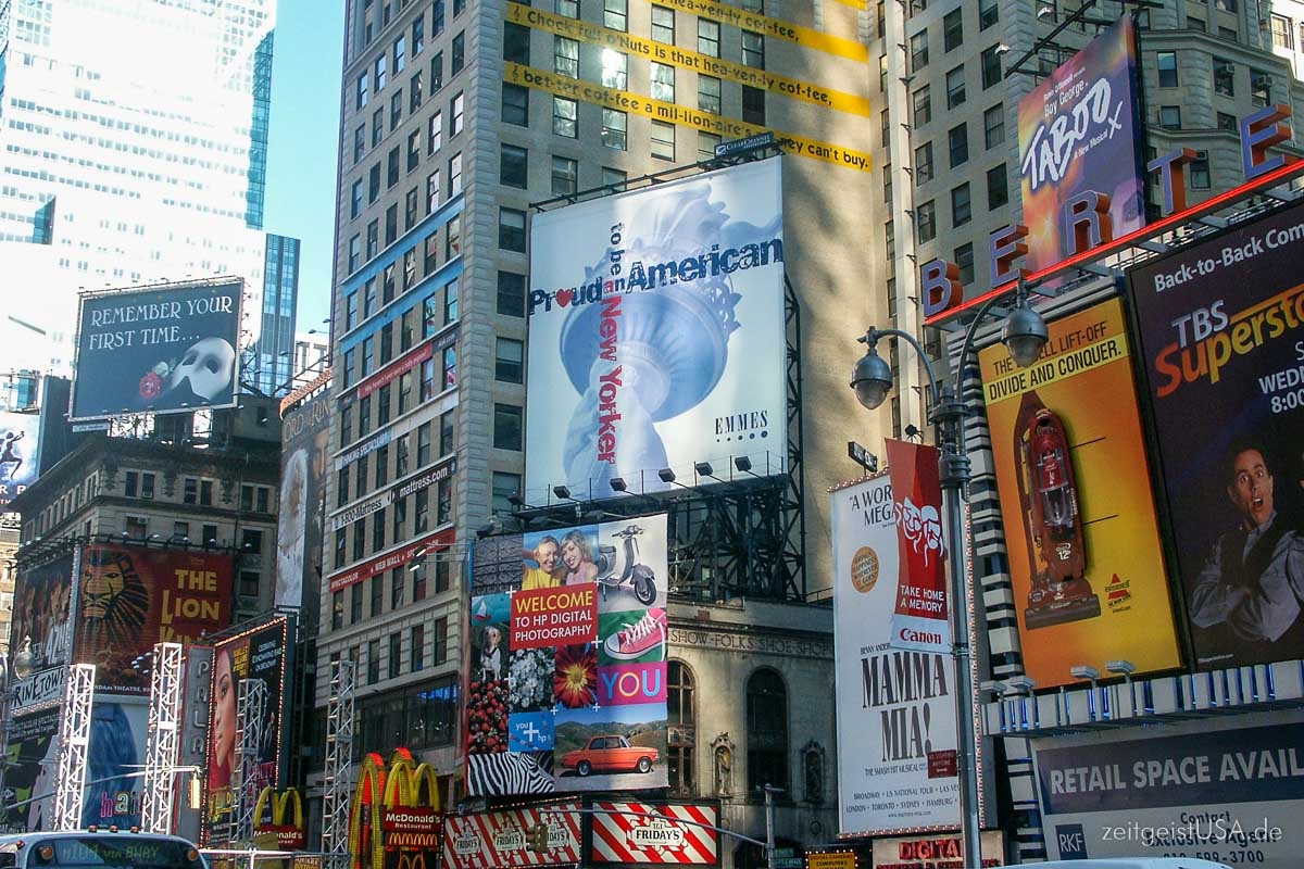 Billboards am Times Square