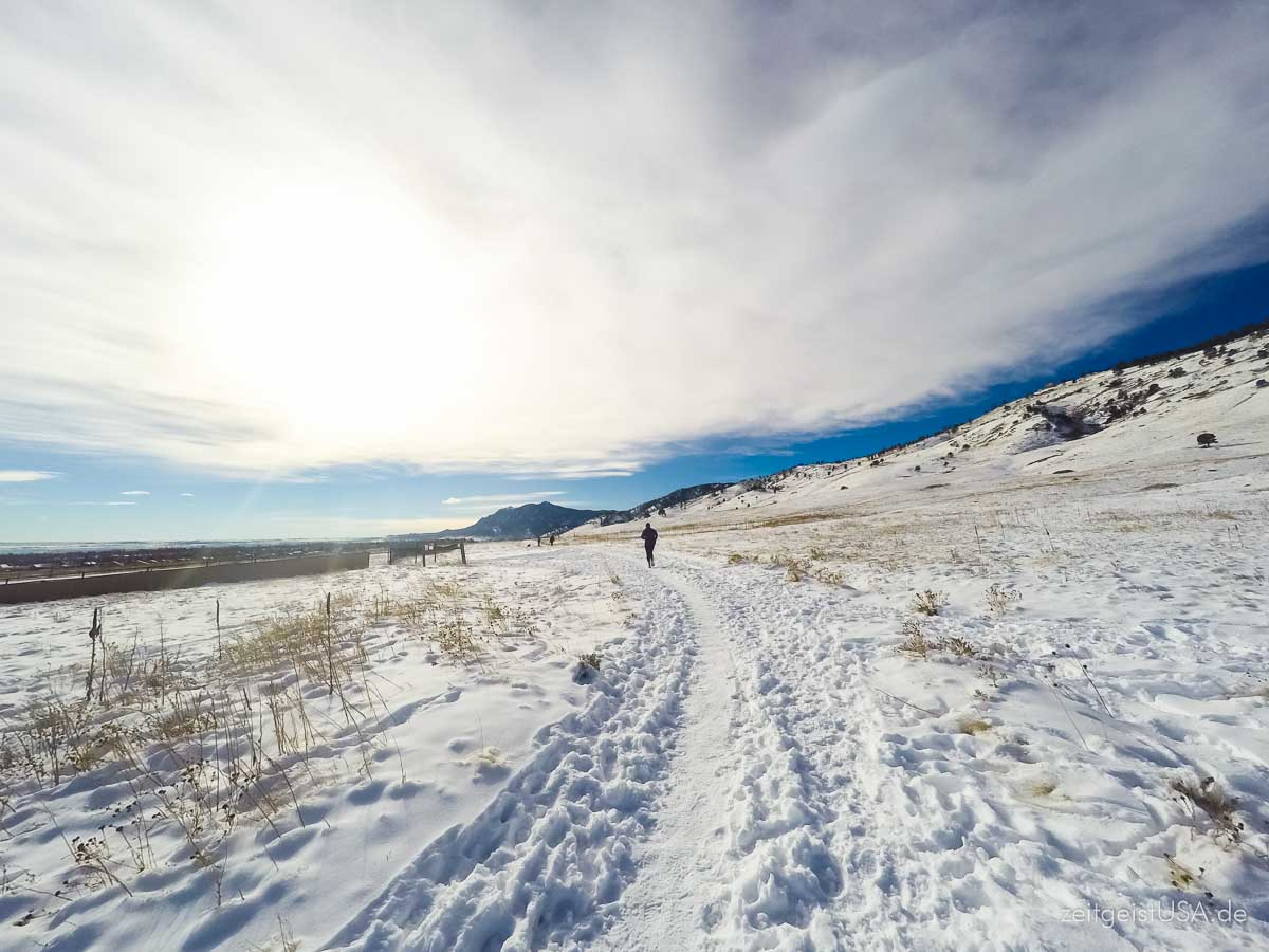 Winter in Boulder sind meistens sonnig