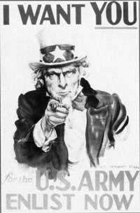 Uncle Sam -- I want you! (photo: U.S. National Archive)
