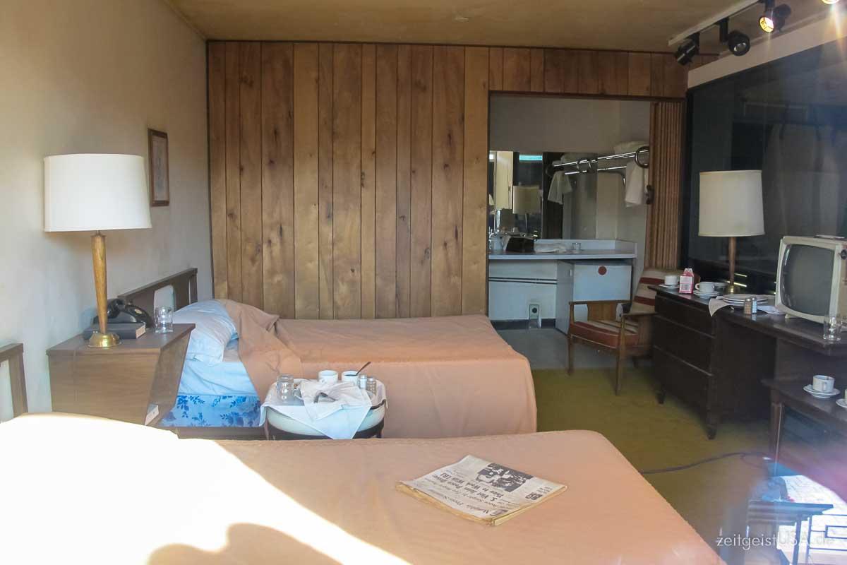 Lorraine Motel Room wo Martin Luther King an diesem Tag wohnte