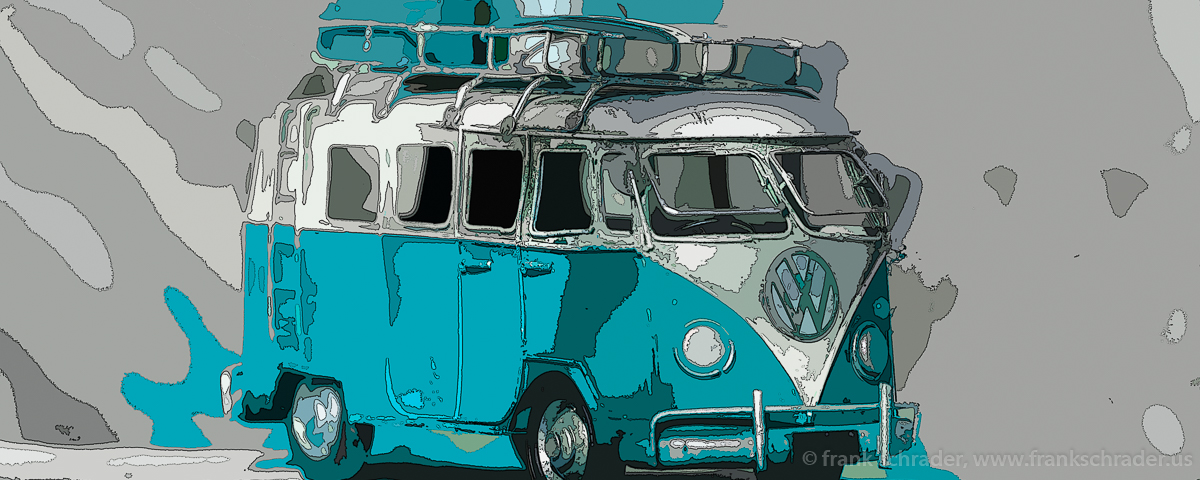 Der VW Bus wurde eines der Symbole der Hippi Zeit